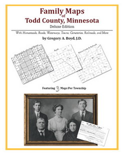 Family Maps of Todd County, Minnesota (Paperback)