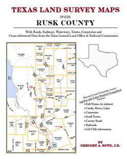 Texas Land Survey Maps for Rusk County (Paperback)