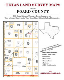 Texas Land Survey Maps for Foard County (Paperback)