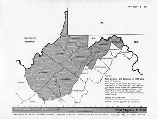 Map Guide to the U.S. Federal Censuses, West Virginia 1790 -1920 Map Packet