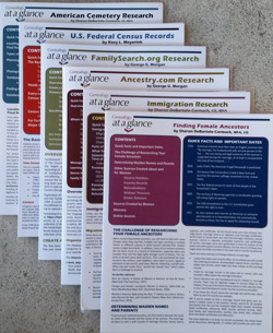 Genealogy At a Glance bundle of 6 key 4-page Laminates