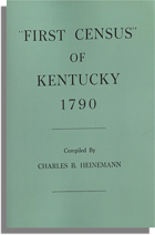 """First Census"" of Kentucky, 1790"