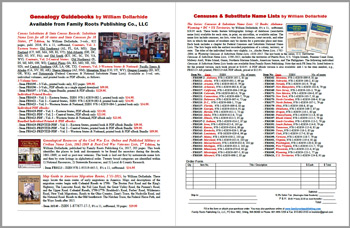 Product Description Flyer: Census Substitutes & State Census Records 2nd Edition 3 Vol.; Genealogical Resources of the Civil War Era 2nd Edition; Map Guide to American Migration Routes; Censuses & Substitute Names Lists - FREE PDF
