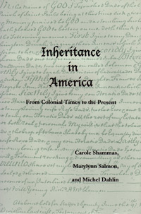 Inheritance in America from Colonial Times to the Present