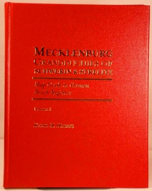 Map Guide to German Parish Registers Vol. 3 - Mecklenburg - Schwerin & Strelitz - Hard Cover - Vol. 3