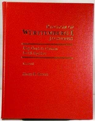 Map Guide to German Parish Registers Vol 5 – Württemberg I - Jagstkreis - Hard Cover