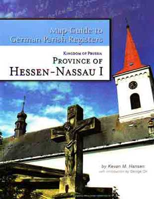 Map Guide to German Parish Registers Vol. 9 - Hessen-Nassau I - RB Wiesbaden