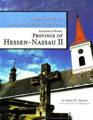 Map Guide to German Parish Registers Vol 10 - Hessen-Nassau II - RB Kassel