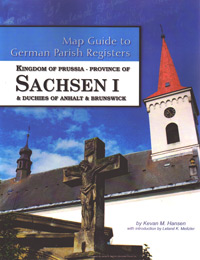 Map Guide to German Parish Registers Vol 27 - Kingdom of Prussia, Province of Sachsen I (Erfurt) & Duchies of Anhalt & Brunswick