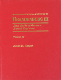 Map Guide to German Parish Registers Vol. 43 – Kingdom of Prussia, Province of Brandenburg III, City of Berlin - Hard Cover