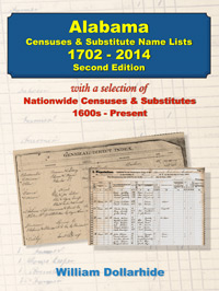 PDF eBook: Alabama Censuses & Substitute Name Lists, 1702-2014 - Second Edition
