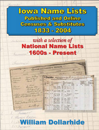 Iowa Name Lists, Published and Online Censuses & Substitutes 1833-2004