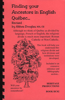 Finding Your Ancestors in English Québec