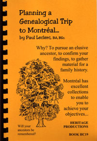 Planning a Genealogical Trip to Montreal