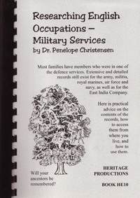 Researching English Occupations-Military Services