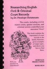 Researching English Civil & Criminal Court Records