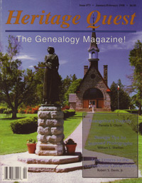 Heritage Quest Magazine, January/February 1998, Issue 73