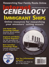 Internet Genealogy – February/March 2010 - PDF eBook
