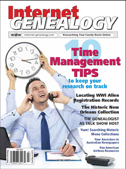 Internet Genealogy – February/March 2013