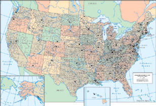 Family Roots Publishing Product View - United states counties map