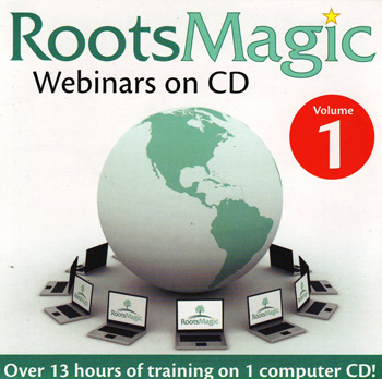 RootsMagic Webinars on CD, Volume 1