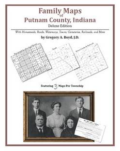 Family Maps of Putnam County, Indiana (Paperback)