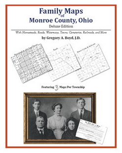 Family Maps of Monroe County, Ohio (Paperback)