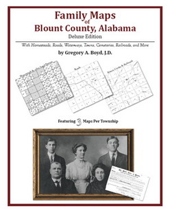 Family Maps of Blount County, Alabama (Paperback)