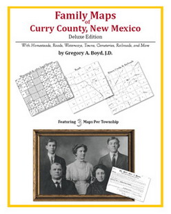 Family Maps of Curry County, New Mexico (Paperback)
