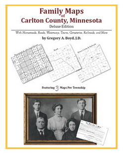 Family Maps of Carlton County, Minnesota (Paperback)
