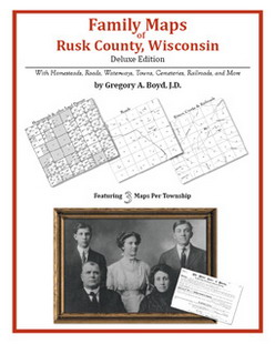Family Maps of Rusk County, Wisconsin (Paperback)