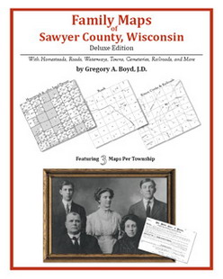 Family Maps of Sawyer County, Wisconsin (Paperback)