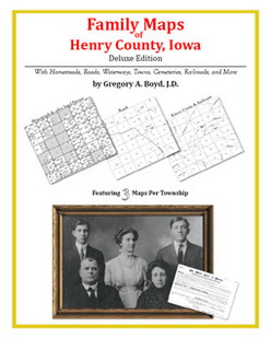 Family Maps of Henry County, Iowa (Paperback)