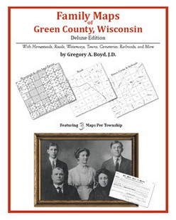 Family Maps of Green County, Wisconsin (Paperback)