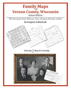 Family Maps of Vernon County, Wisconsin (Paperback)