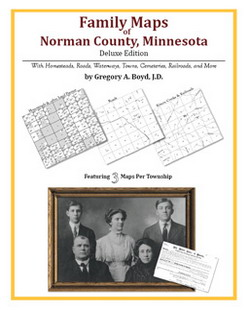 Family Maps of Norman County, Minnesota (Paperback)