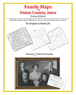 Family Maps of Union County, Iowa (Paperback)