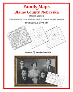 Family Maps of Blaine County, Nebraska (Paperback)