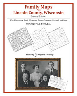 Family Maps of Lincoln County, Wisconsin (Paperback)