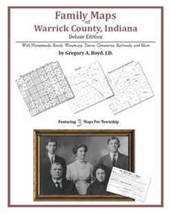 Family Maps of Warrick County, Indiana (Paperback)