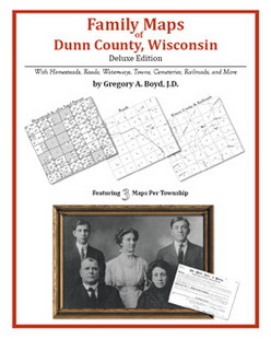 Family Maps of Dunn County, Wisconsin (Paperback)