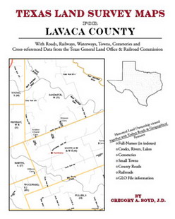 Texas Land Survey Maps for Lavaca County (Paperback)