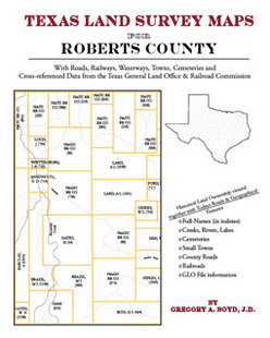Texas Land Survey Maps for Roberts County (Paperback)