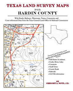 Texas Land Survey Maps for Hardin County (Paperback)