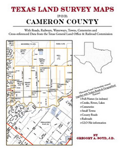 Texas Land Survey Maps for Cameron County (Paperback)