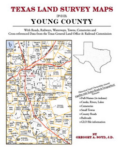 Texas Land Survey Maps for Young County (Paperback)
