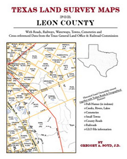 Texas Land Survey Maps for Leon County (Paperback)