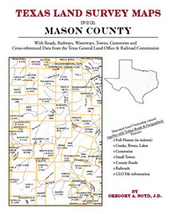 Texas Land Survey Maps for Mason County (Paperback)