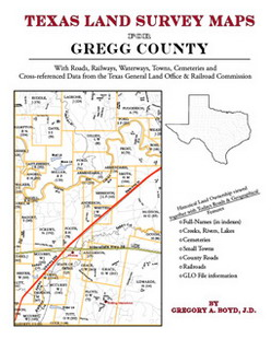 Texas Land Survey Maps for Gregg County (Paperback)