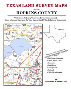 Texas Land Survey Maps for Hopkins County (Paperback)